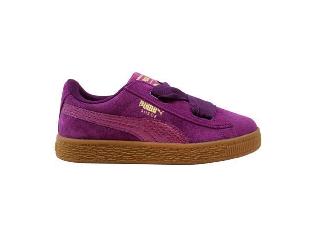 buy popular e22b4 efc46 Puma Suede Heart SNK PS Dark Purple 364919 01 Pre-School Size 1Y -  Newegg.com