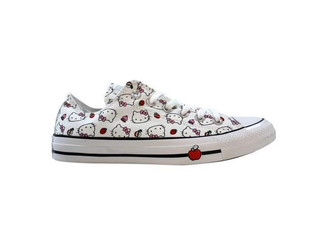 Converse Chuck Taylor All Star OX WhiteFiery Red Prism Pink Hello Kitty 163916F Men's Size 9