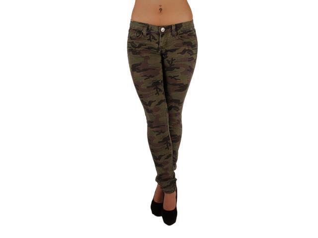 5ff7fb7b14a 5027X –VIP - Women s Plus Size Classic 5 Pockets Camouflage Stretch Skinny  Jeans Size 22
