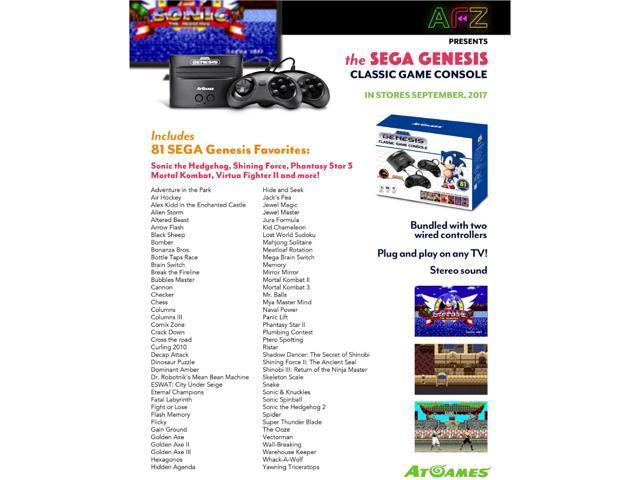 Sega Genesis Classic Game Console 2017 Version - 81 Built-in Games -  Newegg com