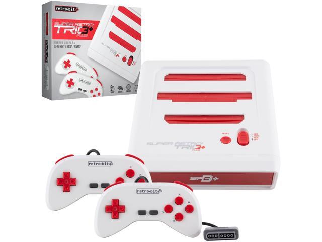Retro-Bit Super RetroTrio+ Plus HD Nintendo SNES/NES/Sega Genesis 3 in 1  Video Game Console 720p HDMI - Newegg com