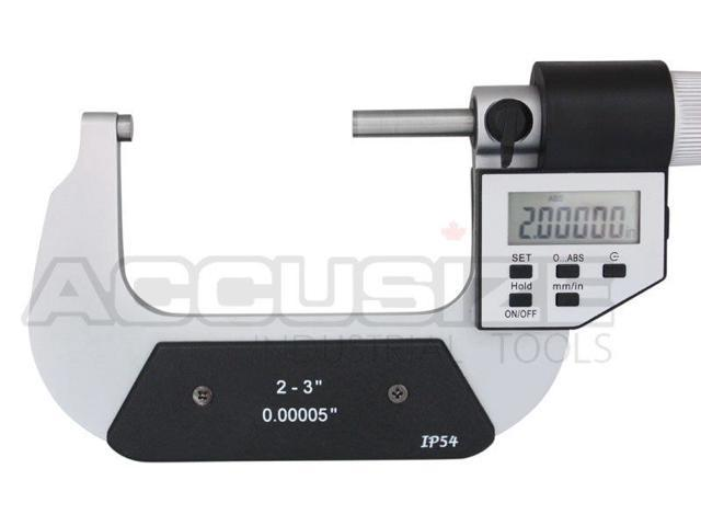 """2-3/"""" x 0.00005/"""" Digital Outside Micrometer 5 key in fitted box #AC20-3022"""