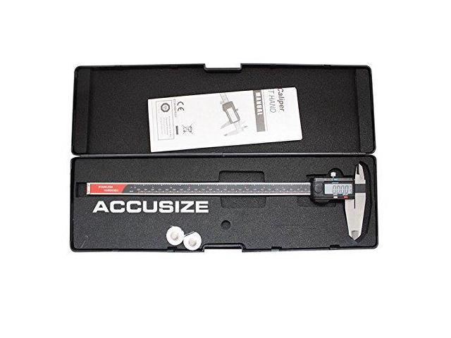6/'/' x 0.001/'/' Precision Dial Caliper Stainless Steel in Fitted Box, Accusize