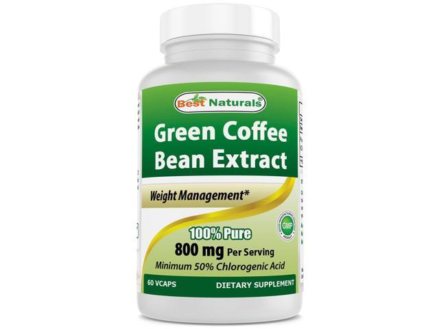 Best Naturals Green Coffee Bean Extract 800mg 60 Vcaps Newegg Com