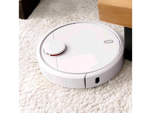 Xiaomi (MiJia) Mi Robot Vacuum Cleaner SDJQR01RR (White) Strong Suction by  5200mAh battery Self-Charging, Remote Control w/Wi-Fi connected APP,LDS