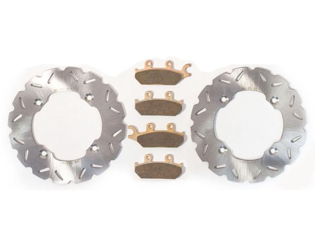 2011-2015 Can-Am Commander 1000 4x4 Front Brake Rotors and Front Brake Pads