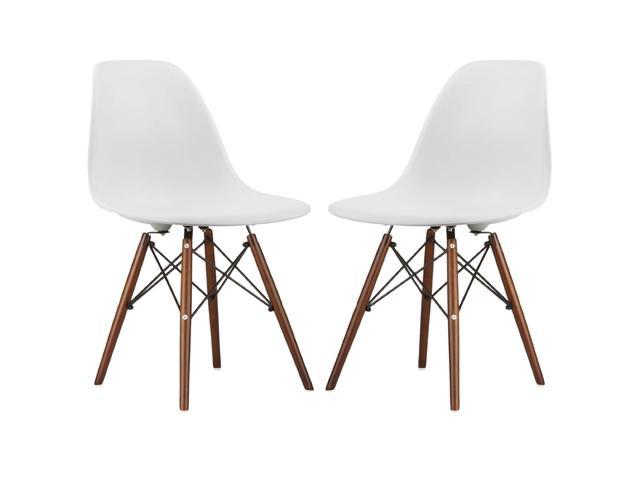 White Eames Style Side Chair