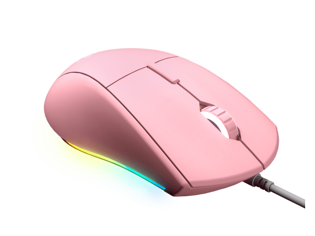 Wired Mice Oumij Gaming Mouse 3200DPI High Sensitivity Pink Gaming Mouse Comfortable Grasping Wired Gaming Mouse