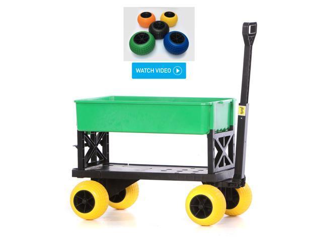 Plus One Garden Cart Nursery Yard Hand Pull Wagon With Wheels Use Indoor  Outdoor