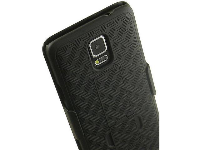 on sale 4287a c9594 BLACK KICKSTAND HARD CASE + BELT CLIP HOLSTER STAND FOR SAMSUNG GALAXY  NOTE-4 - Newegg.com