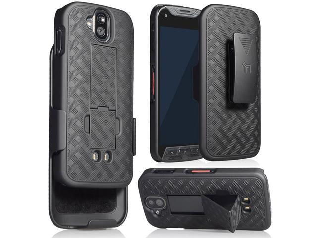 BLACK KICKSTAND CASE + BELT CLIP HOLSTER FOR KYOCERA DURAFORCE PRO E6810  E6820 - Newegg com