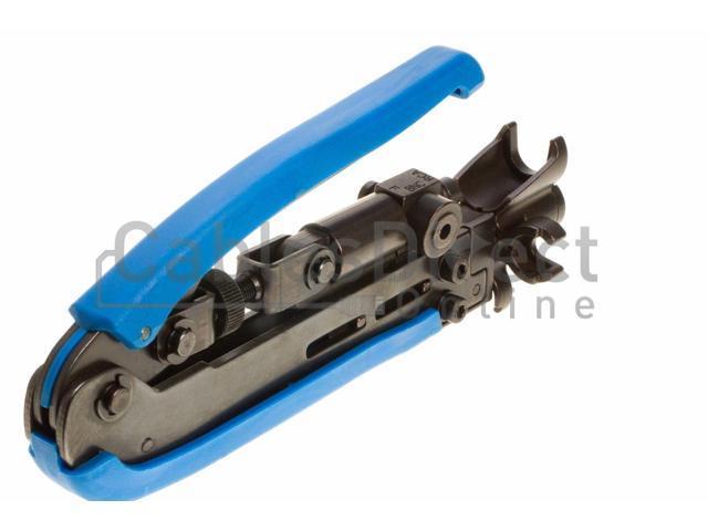 F// RCA// BNC Compression Tool for RG59//RG6 Coax cable with 10pcs  connectors