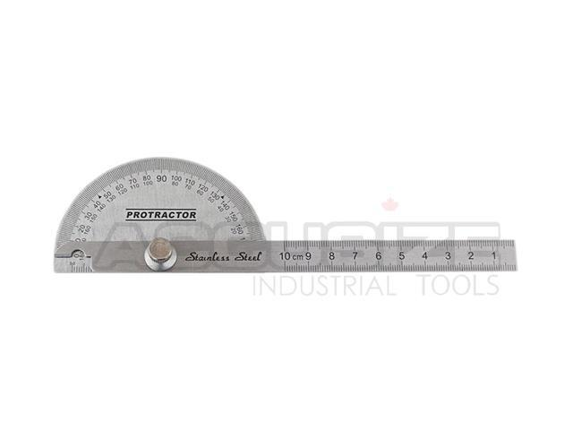 Stainless Steel Protractor Square /& Round #E607-1017/&E607-1018