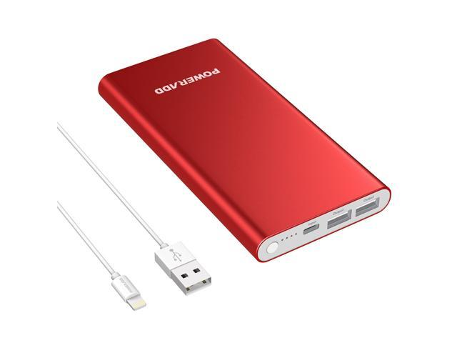 Poweradd Pilot 4GS 12000mAh Power Bank Portable Charger 3A Dual External  Battery Pack for iPhone, iPad, Samsung Galaxy Cellphones with Lightning  8-Pin