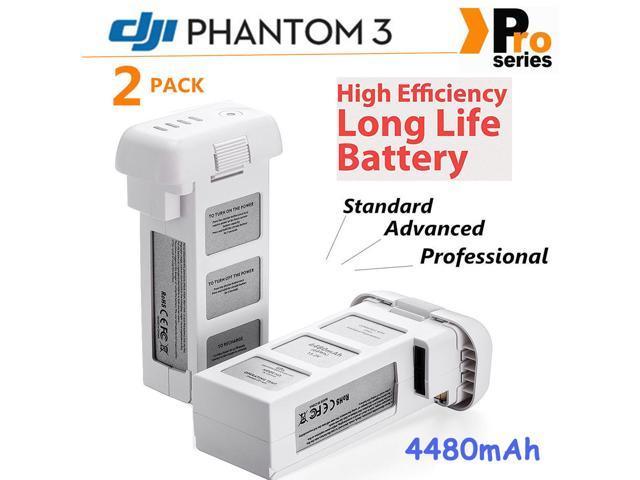 Powerextra 2-Pack DJI LiPo Intelligent Replacement Battery for DJI Phantom  3 SE, Phantom 3 Professional, Phantom 3 Advanced, Phantom 3 Standard,
