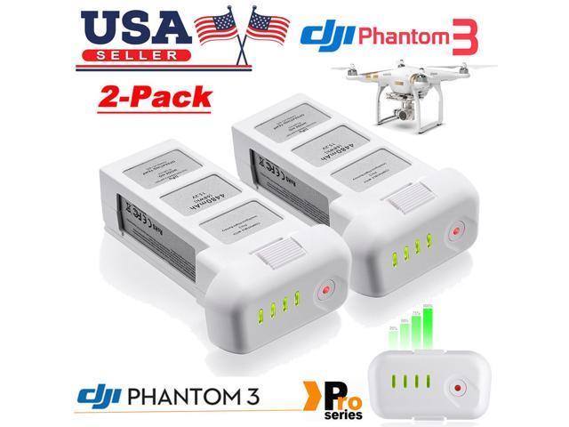 Powerextra 2-Pack Upgraded 15 2V 4480mAh LiPo Intelligent Flight Battery  for DJI Phantom 3 Professional, Phantom 3 Advanced,DJI Phantom 3 SE,  Phantom