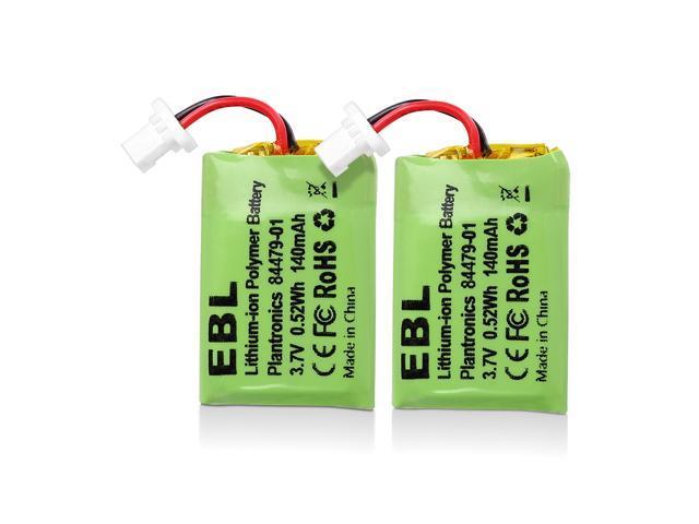 Ebl 2 Pack 140mah 3 7v Replacement Battery For Plantronics Cs540 86180 01 84479 01 Cs540a Cs540 C054 Wireless Headsets Newegg Com