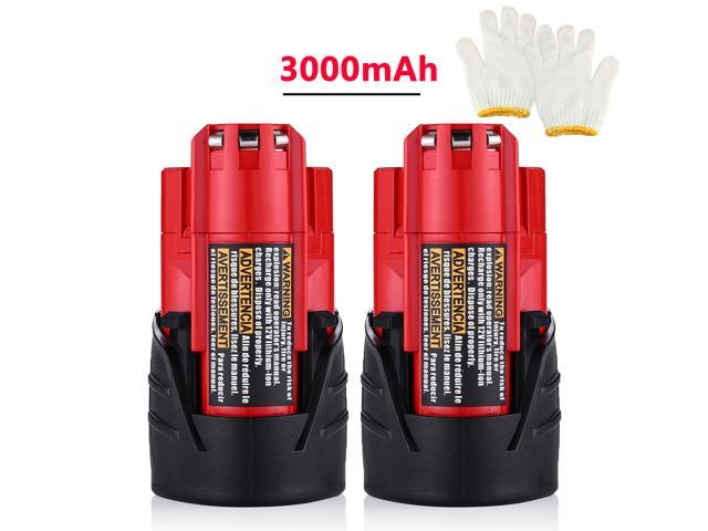 Genuine Two Milwaukee 48-11-2401 M12 12V Li-Ion Red Batteries