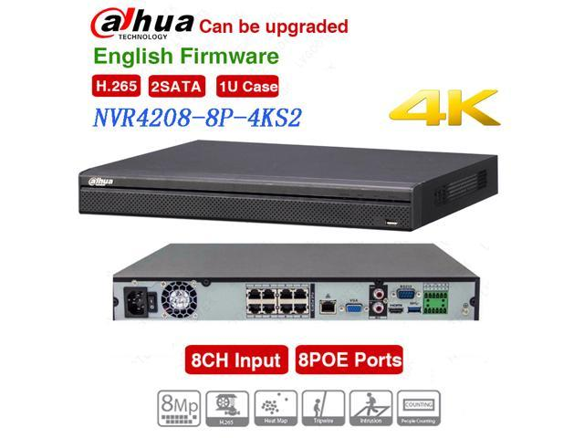 Dahua NVR4208-8P-4KS2 Network Video Recorder 8 Channel 1U 8PoE 4K&H 265  Lite Network Video Recorder - Newegg com