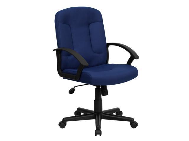 Dark Blue Computer Chair Electra Upholstered Desk