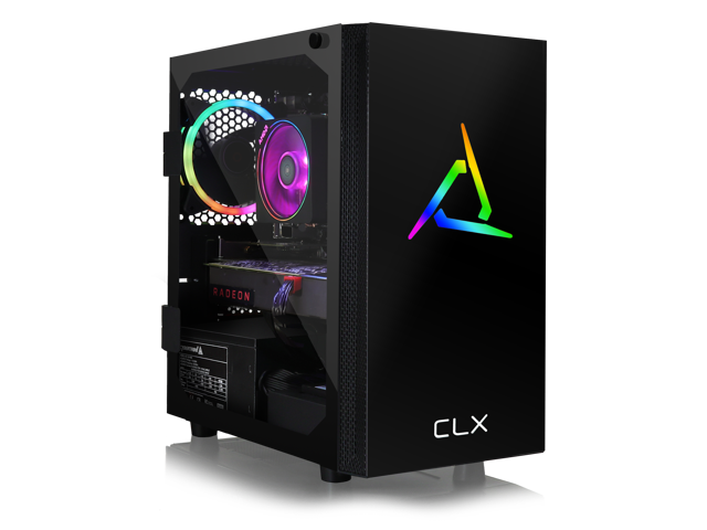 Clx Set Gaming Pc Amd Ryzen 7 3800x 3 9ghz 8 Core 16gb Ddr4 3000 Radeon Rx 5700 Xt 8gb 480gb Ssd 3tb Hdd Wifi Black Mini Tower Rgb Windows 10 Home Newegg Com