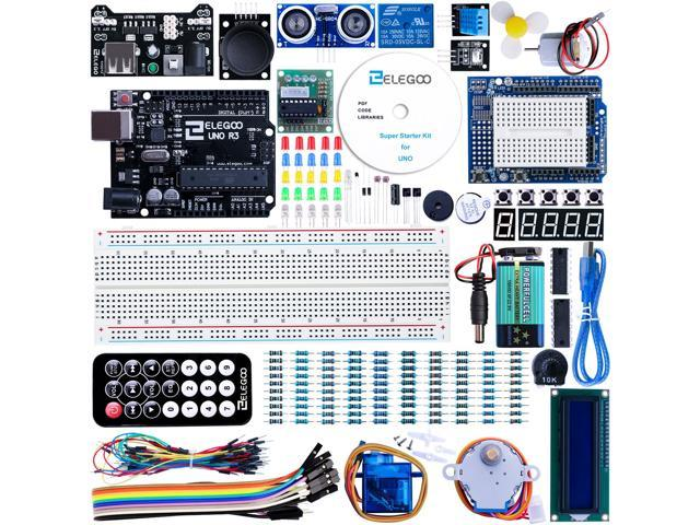 Elegoo UNO Project Super Starter Kit with Tutorial for Arduino - Newegg com