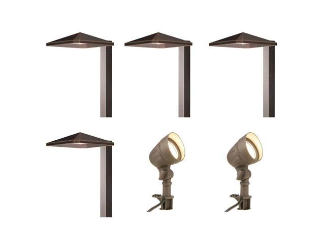 Attrayant Hampton Bay Low Voltage LED Bronze Outdoor Light Kit (6 Pack)