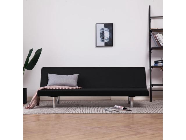 Vidaxl Sofa Bed Black Fabric Modern Living Room Couch Daybed Chaise Lounge Newegg Com