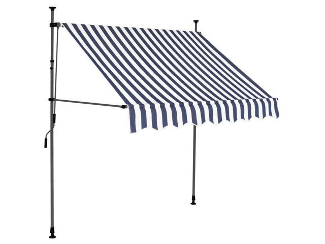 """vidaXL Manual Retractable Awning with LED 78.7/"""" Anthracite Sunshade Shelter"""