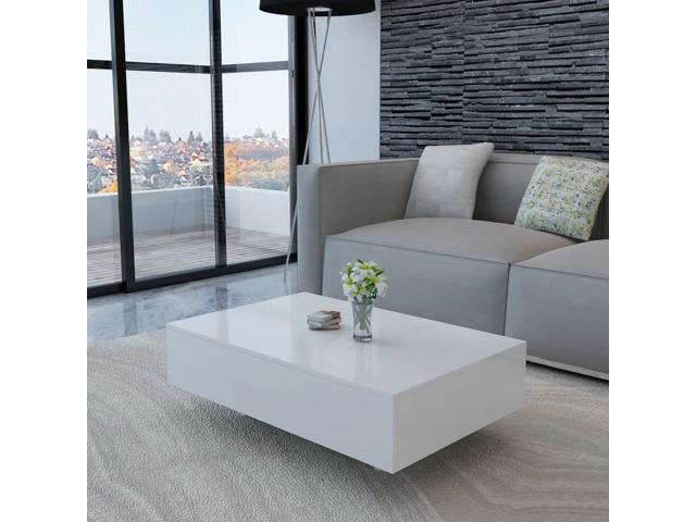 Sensational Vidaxl Coffee Table High Gloss White 33 5 Accent Tea Side Living Room Stand Pabps2019 Chair Design Images Pabps2019Com