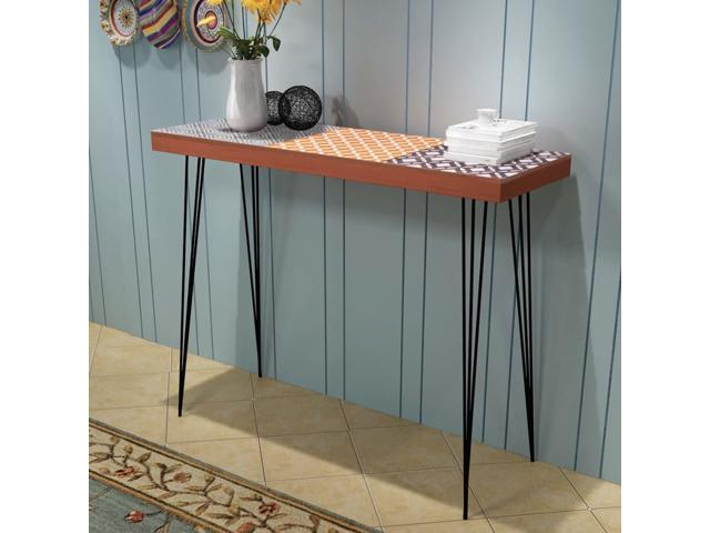 Pleasing Vidaxl Hall Console Table Brown Sideboard Lamp Stand Dailytribune Chair Design For Home Dailytribuneorg