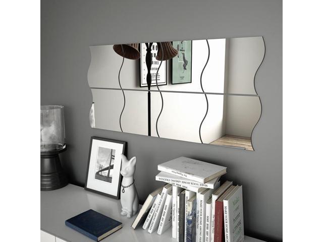 Vidaxl 8x Wall Mirrors 7 9 X7 9 Wave Glass Bedroom Mirror Decorative Mirror Newegg Com