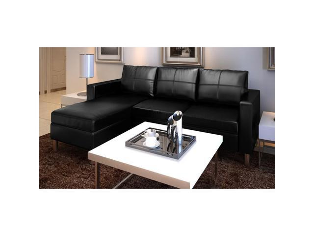 Outstanding Vidaxl Sectional Sofa Real Leather Reversible Corner Onthecornerstone Fun Painted Chair Ideas Images Onthecornerstoneorg