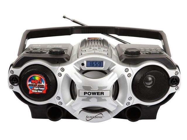 Supersonic SC-1395 Portable MP3 Audio Player Radio boombox USB/SD/AUX  Inputs - Newegg com