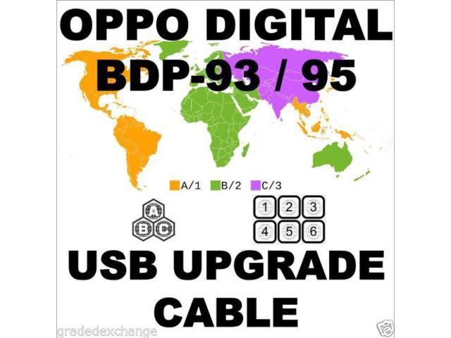 New OPPO DIGITAL BDP-93 BDP-95 DIY MULTI CODE REGION FREE USB UPGRADE CABLE  ABC KIT - Newegg com