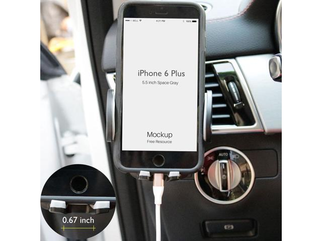 sale retailer e5474 42dc8 New 360° Car Air Vent Mount Holder Cradle Stand Universal for iPhone 6s  plus iPhone 6 plus 5.5 inch - Newegg.com