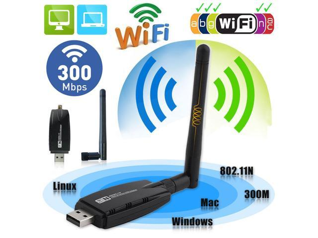 150Mbps Wireless USB WiFi Adapter Dongle Network LAN Card 802.11b//g//n w// Antenna