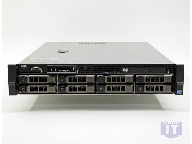 Refurbished: Dell PowerEdge R510 2U 8 Bay Server 2xE5620 2 4GHz 16GB 2xPS  No HDD 8x Caddies - Newegg com