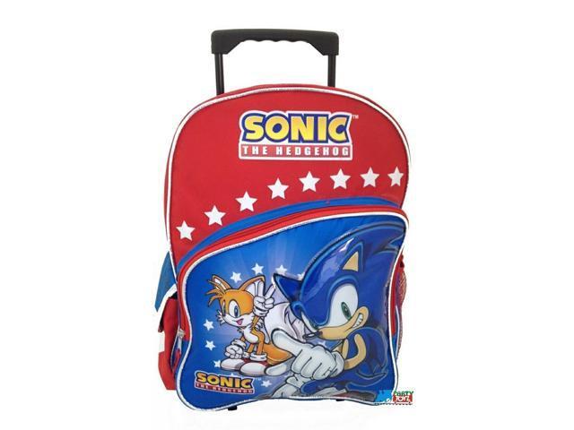 cbdb9bad966e Sonic The Hedgehog Large 16 Inch Rolling Backpack Wheels Bag School W Tails  - Newegg.com