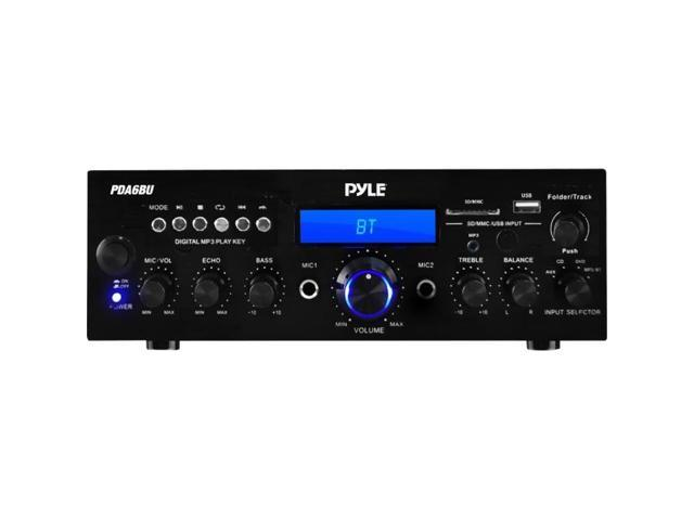 Pyle 200W (PDA6BU) Bluetooth Stereo Amplifier Receiver with Wireless  Streaming, FM Radio, MP3/USB/SD Readers, Remote Control - Newegg com