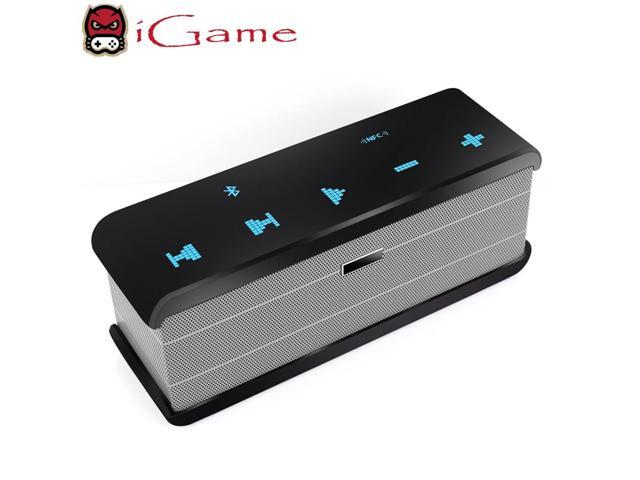 iGame Wireless Bluetooth Speaker Portable with Rechargeable 1500mAh  Battery, 10 Hours Playback Time, Touch Control, NFC Connecting, Built-in  Mic for