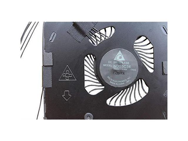 Z-one Fan Replacement for Lenovo ThinkPad X1 Carbon Gen 6 Series CPU Cooling Fan 4-Wires 4-pins FRU:01YR204 ND55C34
