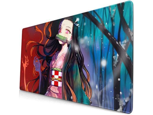 Kimetsu no Yaiba Kamado Nezuko Anime Mouse Pad Huge Keyboard Mat Game Playmat