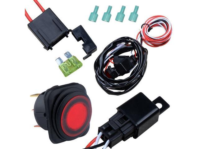 Off road atv jeep led light bar wiring harness kit 12v 40a relay on