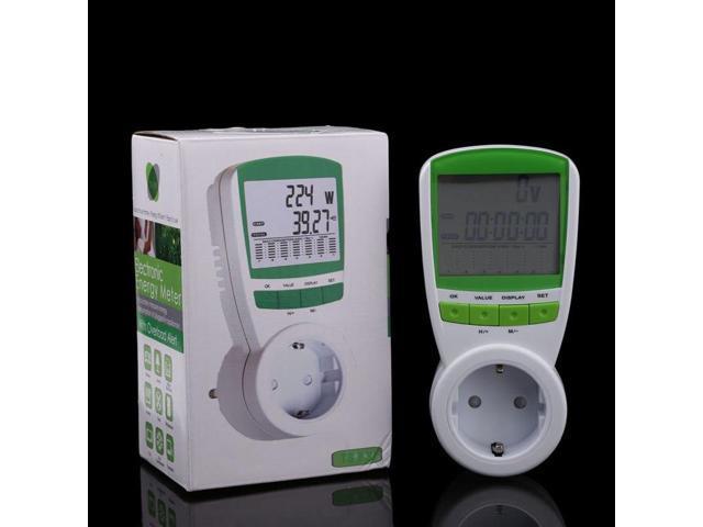 230V 50HZ Digital Energy Meter Watt Voltage Volt Meter Hertz Power Analyzer  Factor Measurement Tool EU Plug - Newegg com