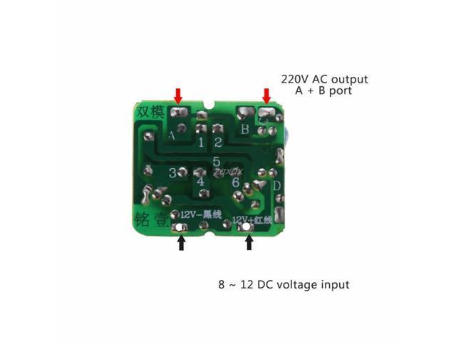 40W DC-AC 12V to 220V Step Up Transformer Boost Module Inverter Power Supply