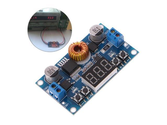 5A 75W DC-DC Adjustable Step Down Buck Converter Module Board with LED Voltmeter