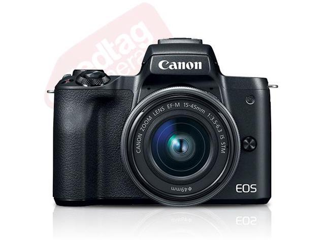 Canon Eos M50 Mirrorless Digital Camera With 15 45mm Ef M Is Stm Lens Black Newegg Com
