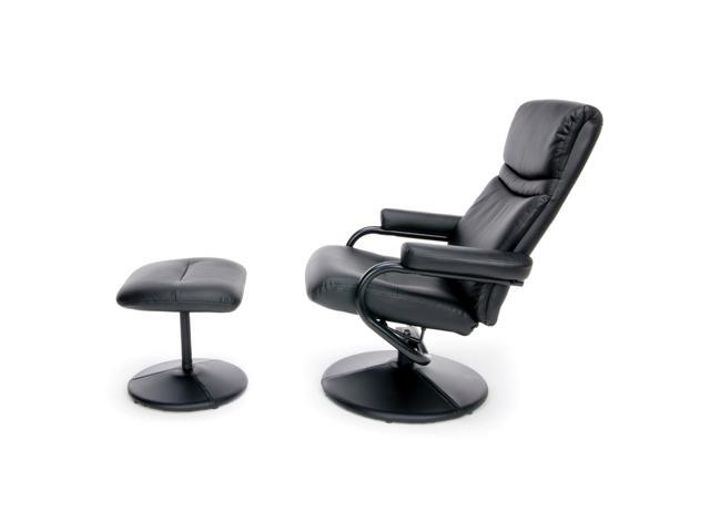Brilliant Ofm Essentials Collection Bonded Leather Recliner And Ottoman In Black Ess 7000 Newegg Com Pdpeps Interior Chair Design Pdpepsorg