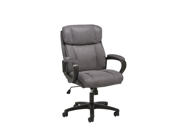 Ofm Essentials Collection Plush Microfiber Office Chair In Gray Ess 3082 Gry Newegg Com
